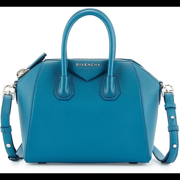d7d29d39c13 Givenchy Handbags - Givenchy Antigona Mini Sugar Oil Blue Teal Satchel